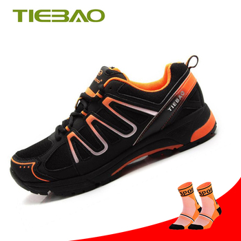 TIEBAO Leisure Cycling Shoes Men sapatilha ciclismo mtb Pro Riding Bike Breathable women Athletic Self-locking Bicycle Shoes