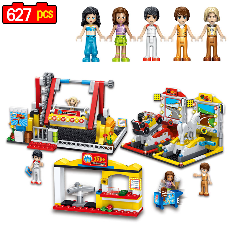 627pcs Girl Friends Princess Series Building Block City Park Compatible for Girls Friends Toys for Childrens Gift