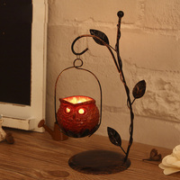 American Wedding Wrought Iron Candlestick Creative Gifts Crafts Candle Holders Household Adornment Furnishing Articles Hot Sale