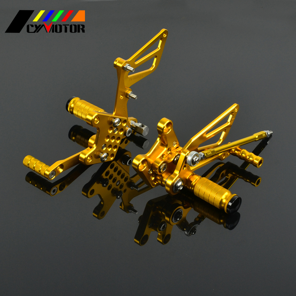 Motorcycle CNC Adjustable Foot Pegs Footpeg For SUZUKI GSXR1000 GSXR600 GSXR750 SV650 SV650S GSXR 600 750 1000 SV 650 650S motorcycle rear brake disc for suzuki gsxr600 gsxr750 gsxr1000 abs gsxr1100 sv650 svs650 sv1000 svs1000 tlr1000 tls1000 new