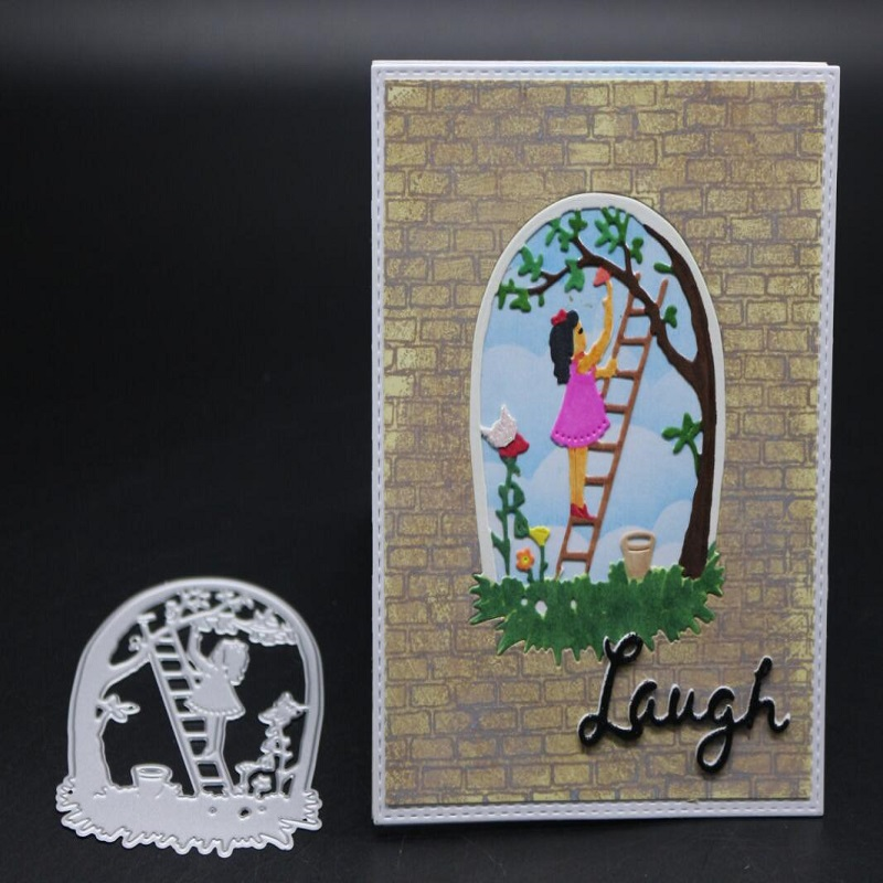 FeLicearts girl metal cutting dies for scrapbooking albulm photo decorative card making paper craft stencil embossing die in Cutting Dies from Home Garden