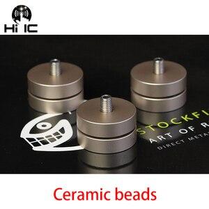 Image 4 - 4 PCS HIFI Audio Lautsprecher Verstärker Keramik perlen Stahl perlen Anti stoßdämpfer Fuß Pad Füße Basis Vibration Absorption stehen