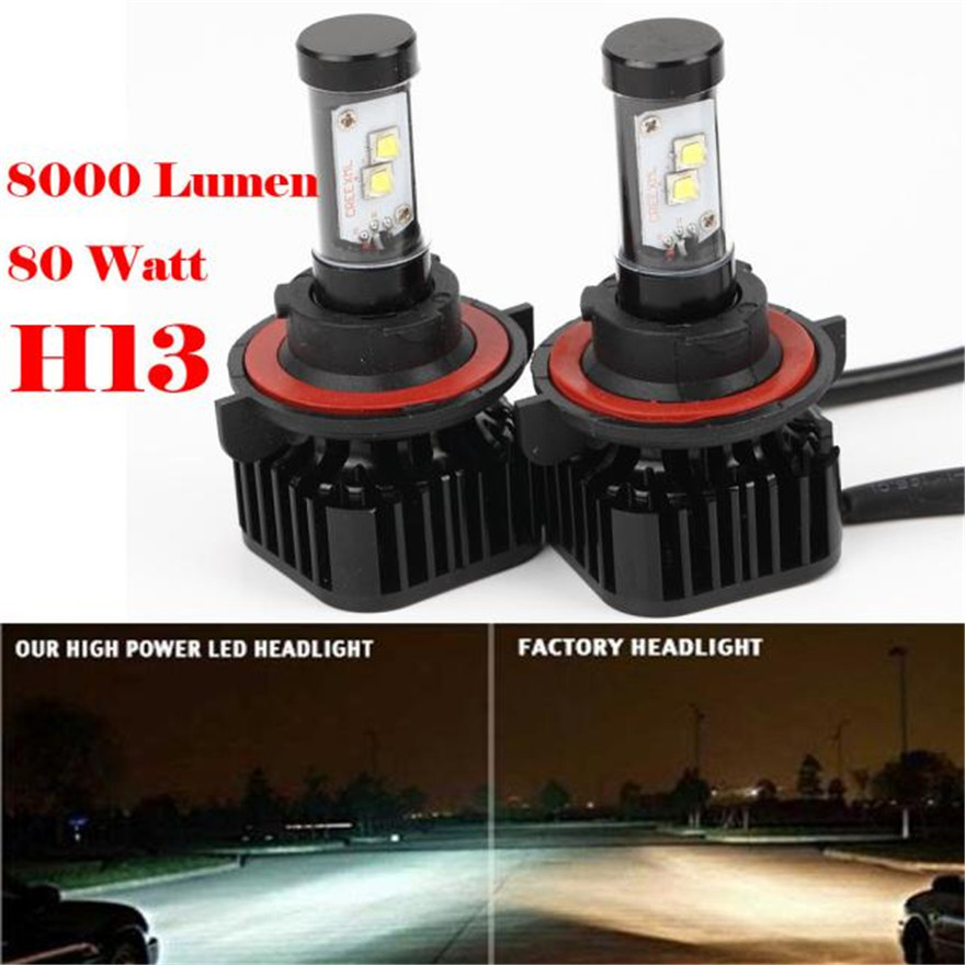 2016 NEW H13 80W 8000LM LED Headlight Kit High/Low Beam Bulbs White 6000K High Power wholeslae A2000