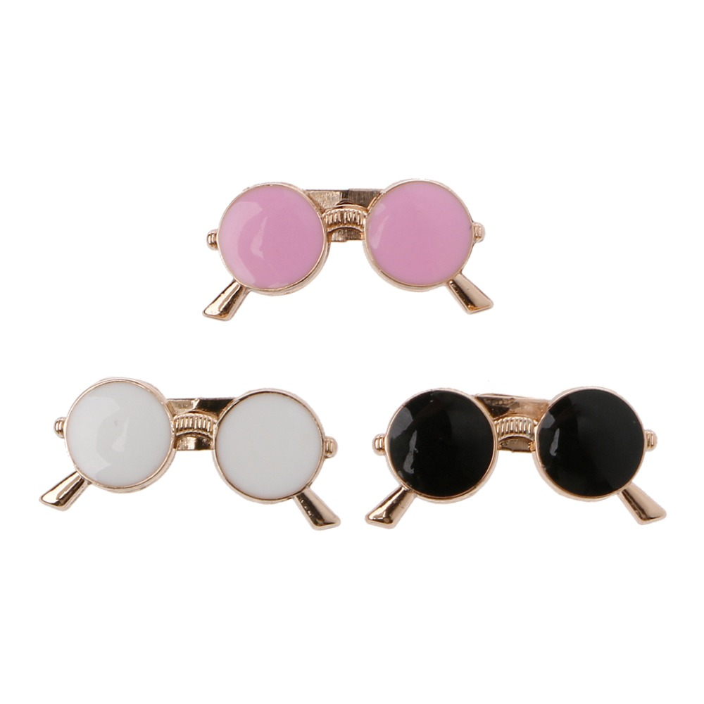 Sunglasses Lapel Pin: JAVRICK Vintage Enamel Lapel Pin Small Sunglasses Brooch