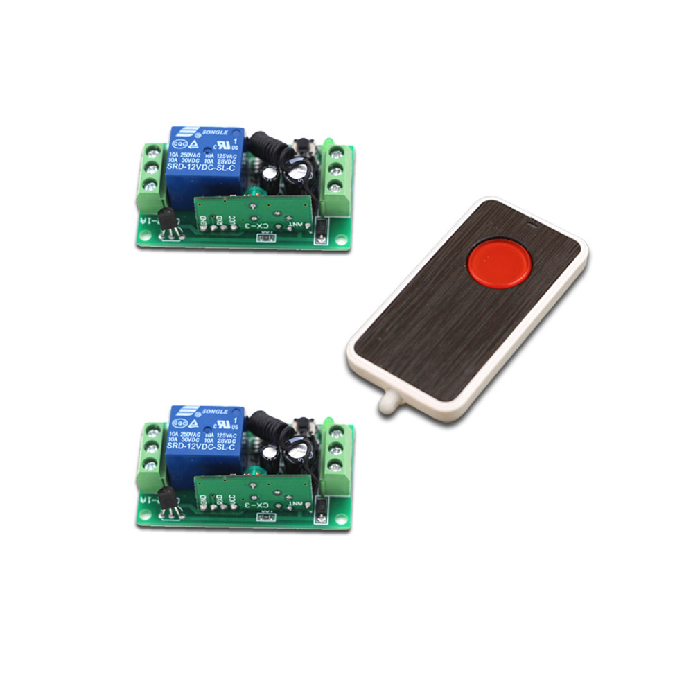 DC9V/12V/24V Wireless Remote Control Switch System 1CH 10A RF Relay Receiver 1 CH Remote Controller 315/433MHz купить