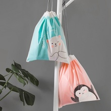Women Cartoon Bear Transparent Travel Suitcase Shoes Underwear Cosmetic Storage Bag Organizer Clothes Packing Drawstring