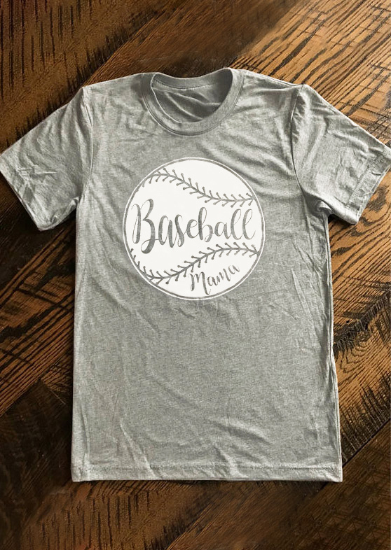 Composite Bats Baseball Mama O-Neck Short Sleeve T-Shirt Women Fashion