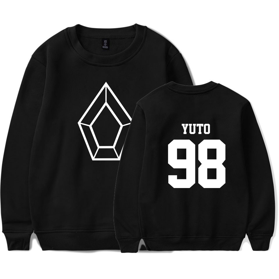 New 2019 Kpop Clothes PENTAGON Album Five Senses 2D Print O-neck Sweatshirt Harajuku Round Collar Unisex Men/Women Sweatshirt