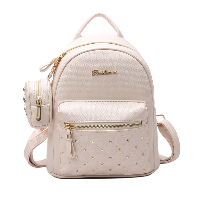 3823acb19811 2019 Summer New Vintage Retro Lady PU Leather Bag Small Women Mini Backpack  Mochila Feminina School