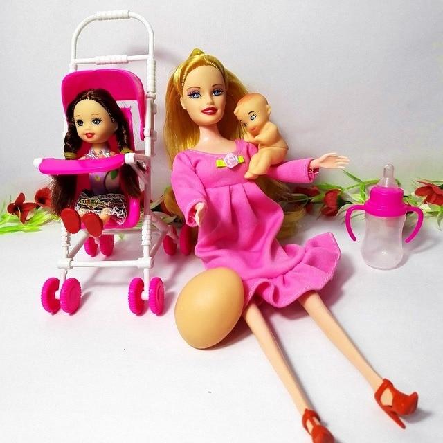 Cochecito De Bebe Para Embarazadas Muneca Barbie Ninos Jugar Casa