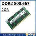 Promoción 2 gb 4 gb ddr2 667 Mhz pc2-5300 sodimm portátil, memoria ram ddr2 2 gb 667 dimm notebook, de memoria ram ddr2 2 gb 800 mhz pc2-6400 sdram