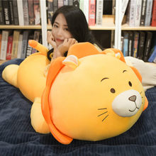 Giant Lion Plush Toys Soft Stuffed Animal Plush Lion Doll Soft Toys Animal Cushion Sofa Pillow Kids Birthday Gift Pusheen Xmas(China)