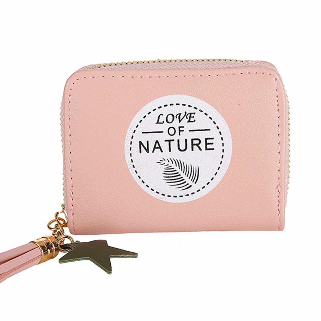 2019 frauen buchstaben retro quaste zipper kurze brieftasche damen mode lässig campus ändern karte tasche handtasche billeteras mujer