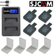 New 4Pcs SJCAM SJ4000 Battery +LCD USB Dual Charger for SJCAM SJ4000 SJ5000 SJ6000 SJ7000 SJ8000 SJ9000 and SJ M10 Action Camera