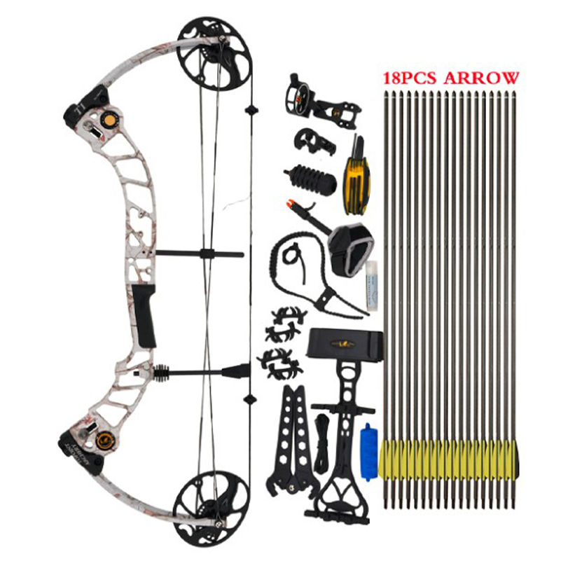 High Quality T1 Compound Bow Set 17-70 Lbs Draw Weight 19-30 Inches Draw Length 320fps IBO Archery Equipment for Shooting flight fps 17