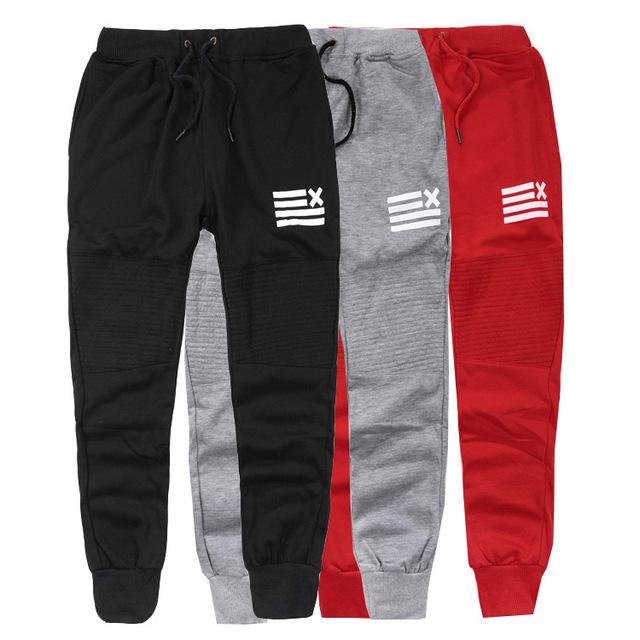 2015 estilo hip hop justin bieber--calças preto/cinza/vermelho corredores para homens menino longo moletom justin bieber amor calças de dança