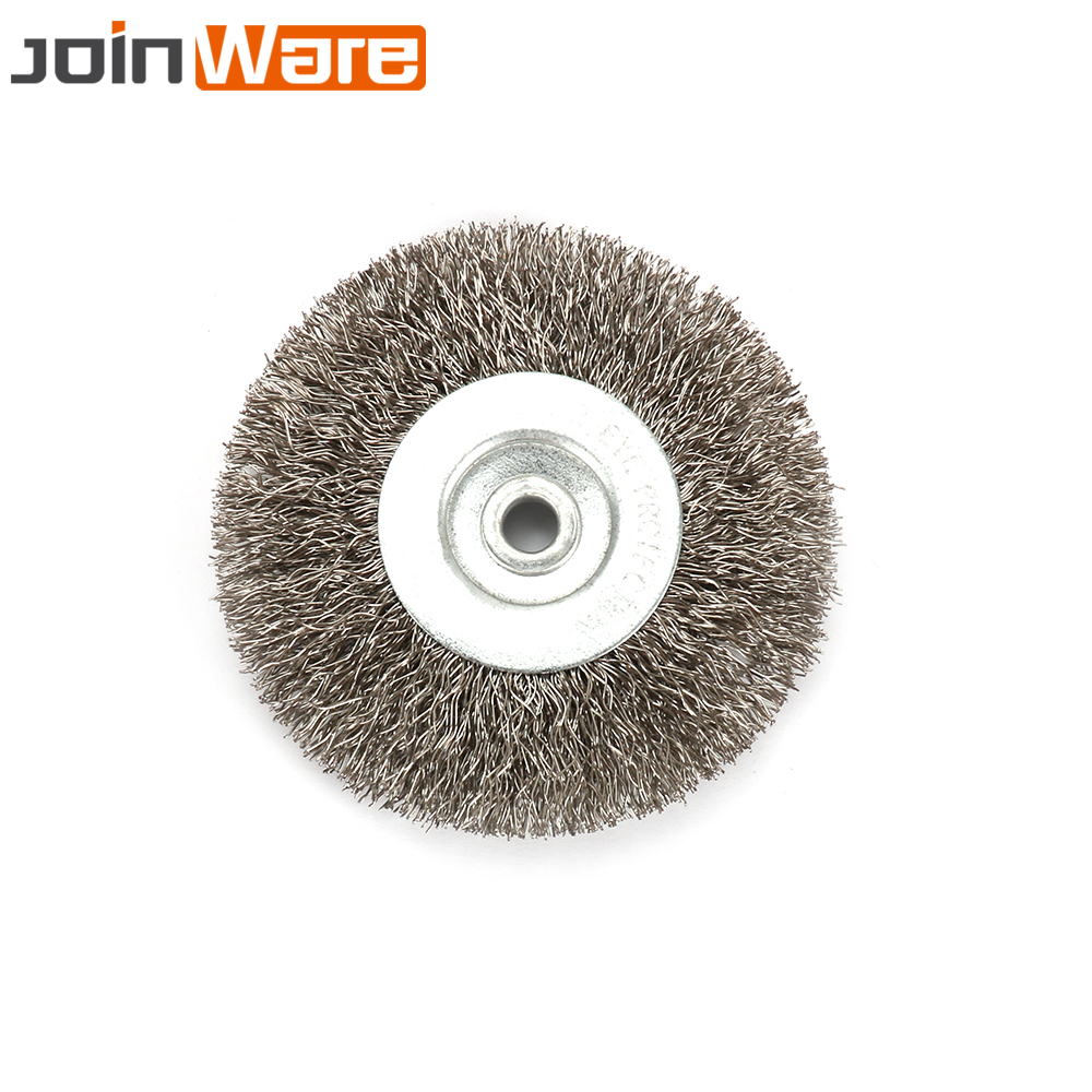 4 Inch 16mm Arbor Stainless Steel Wire Wheel Brush For Bench Grinder Grinding