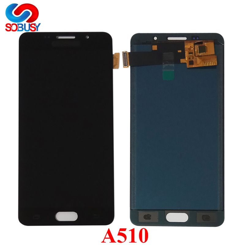 5.2'' A5 2016 LCD For <font><b>SAMSUNG</b></font> Galaxy A510 <font><b>A510F</b></font> A510M A510FD LCD <font><b>Display</b></font> Touch Screen Digitizer Assembly Tela Replace Parts image
