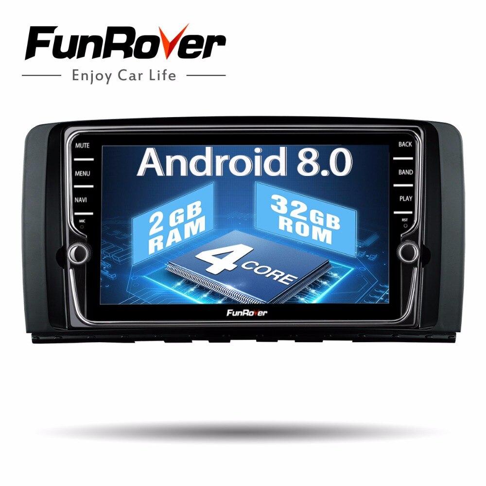 Lecteur DVD de voiture Funrover IPS 8 ''2 din Android 8.0 Radio stéréo GPS pour Mercedes/Benz/AMG R classe W251 R280 R300 R350 R63 audio