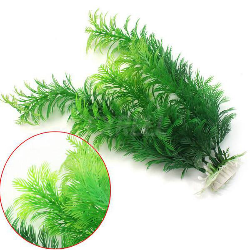 Artificial Aquarium Plant Decoration Fish Tank Submersible Flower Grass Ornament Decor For Aquarium Underwater Plant 10-30cm(China)