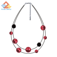 Necklaces and pendants rope alloy drip pearl necklace female fashion jewelry wholesale, free shipping