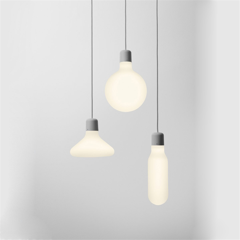 Modern Minimalist Pendant Lights Nordic Vintage Glass Pendant Lamps for Restaurant Bar Dining Room LED Hanging Light Fixture edison inustrial loft vintage amber glass basin pendant lights lamp for cafe bar hall bedroom club dining room droplight decor