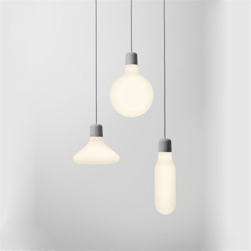 Modern Minimalist Pendant Lights Nordic Vintage Glass Pendant Lamps for Restaurant Bar Dining Room LED Hanging Light Fixture