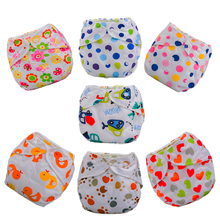 Waterproof Baby Napppy Print Cotton Diaper Baby Training Pants Baby Diaper Reusable Nappy Washable Diapers Cotton Learning Pants