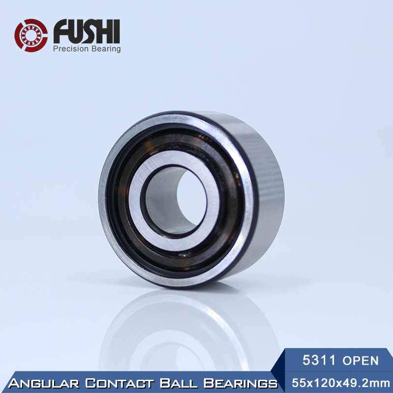 5311 OPEN Bearing 55 x 120 x 49.2 mm ( 1 PC ) Axial Double Row Angular Contact 5311 3311 3056311 Ball Bearings 5311 zz bearing 55 x 120 x 49 2 mm 1 pc axial double row angular contact 5311zz 3311 zz 3056311 ball bearings