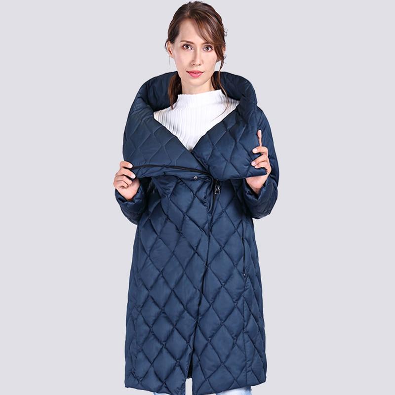 2019 New High Quality Thick   Parkas   Women Bio fluff Hooded Women's Winter coat Plus Size Long Warm Stylish Winter Jacket Outwear