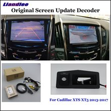 Liandlee Original Screen Update System For Cadillac XTS  XT5 2013-2017 Rear Reverse Parking Camera Digital Decoder Rear camera liandlee original screen update system for mercedes benz gle class rear reverse parking camera digital decoder rear camera
