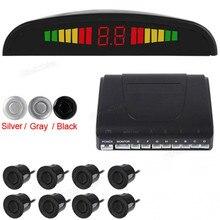 De alta Calidad de Color de Sensor de Aparcamiento LED Display Estacionarse en Reversa System Radar de reserva con 8 Sensores 3 Colores Opciones