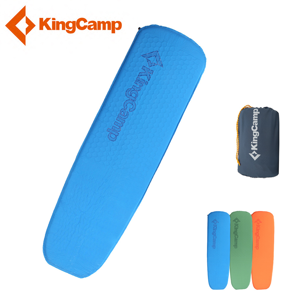 KingCamp Self-Inflating Camping Mats Lightweight Camp Air Mattress Damp-proof Single Camping Sleeping Pad for Hiking Trekking наматрасники esspero непромокаемый наматрасник damp proof