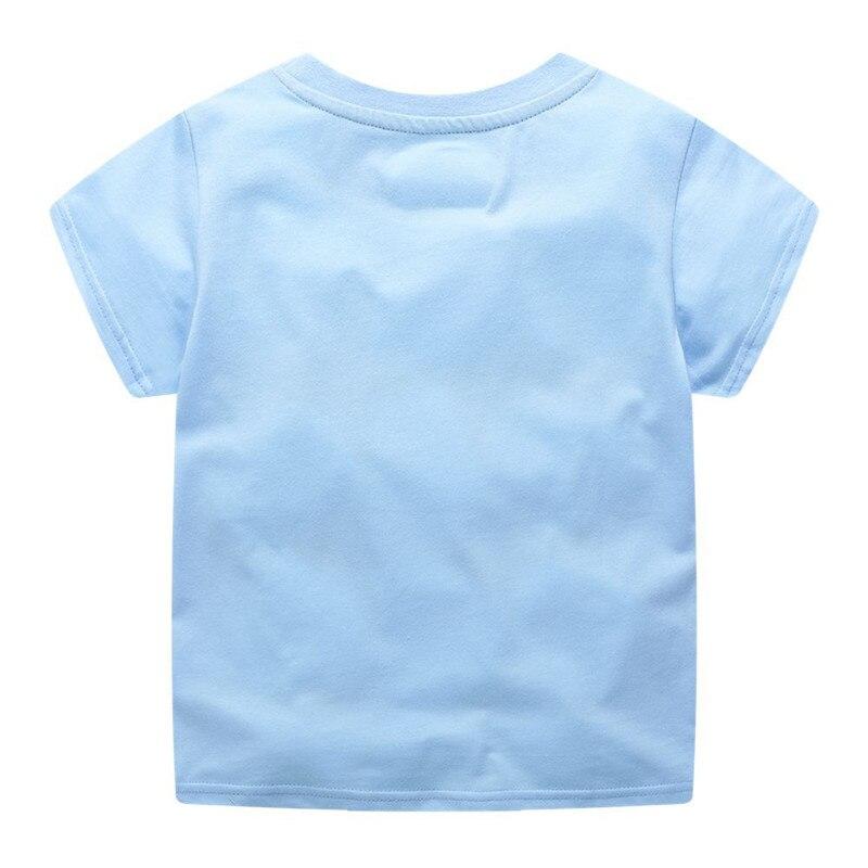 Jumping meters Boys Cartoon aircrafts T shirts Summer Cotton Kids Tees Print character Short sleeve Children Clothes Boy T shirt 2