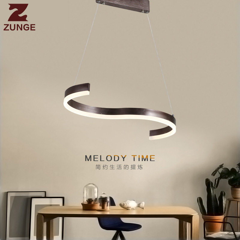 Pendant Lights modern simple P633 coffee shop LED lamp bedroom living room lamps night light lustre pendente
