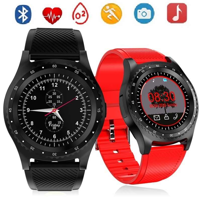 Smart Watch Men Sport Activity Fitness tracker Pedometer Sim Card Wristwatch with Camera Play Music Smartwatch