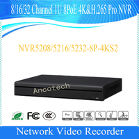 DAHUA 8 16 32CH 1U 4K H 265 NVR Support 2HDD Onvif With 8ch POE Without