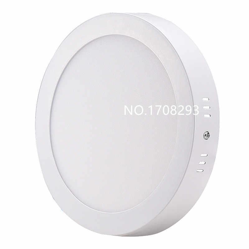 6 Вт 12 Вт 18 Вт 24 Вт 25 Вт поверхностного монтажа светодиодный панели огни вокруг/квадратный потолочные светильники светильники AC110V-240V не затемняя