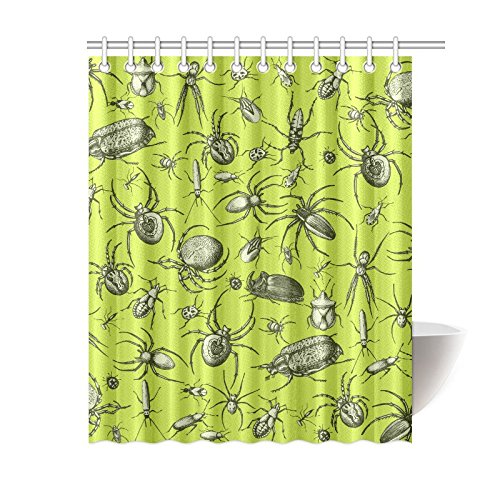 NANAZ Custom Spiders Creepy Crawlers Bathroom Waterproof Fabric 60x72 Inch Shower Curtain In Curtains From Home Garden On Aliexpress