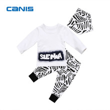 2017 Brand New Cute Toddler Infant Newborn Kids Baby Boys Long Sleeve Tops T-shirt Pants Leggings 2pcs Clothes Outfits Set 1-6T