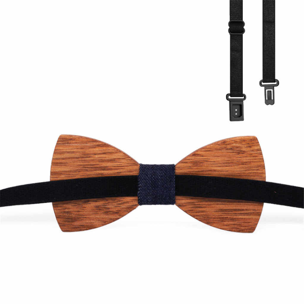木材蝶ネクタイメンズ木製弓ネクタイビジネス蝶ネクタイネクタイ