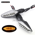 For DUCATI Streetfighter 848 1099S / Multistrada 1200 Motorcycle Front/Rear LED Turn Signal Indicator Light Blinker Lamp Clear
