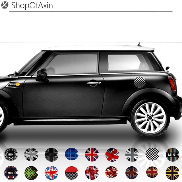 Fuel Gas Oil Cap Graphics Sticker 18 Styles Stickers For Mini Cooper Hatch One Clubman Countryman R55 R56 R60 R61 F55 F56