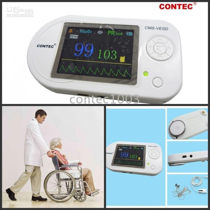 SPO2 Probe+ software CONTEC Multi-functional Visual Stethoscope + Pulse Rate, CMS-VESD Fonendoscopio Medical Equipment
