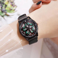 New Fashion Diamond Watches Women Rose Gold Rotation Magnetic Watch Quartz Womens Watches Top Brand Luxury 2018 Women Watches