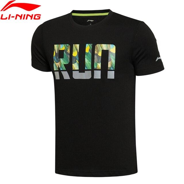 Li-Ning Men's Running Series T-Shirts 64.5% Cotton 35.5% Polyester Breathable Soft Short Sleeve Sports T Shirt AHSL111 MTS1821