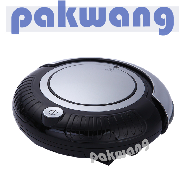 Mini Robot Vacuuum Cleaner K6L with Two Side Brush, One Button Turn On/off, Big Mop and Anti Fall Function