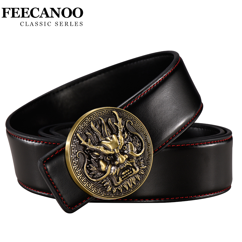 Fashion Tiger belt men Casual High Quality Glossy genuine leather designer belts Round buckle luxury famous brand Waist Strap