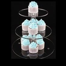3 уровня акриловая подставка для торта, свадебная стойка для кексов
