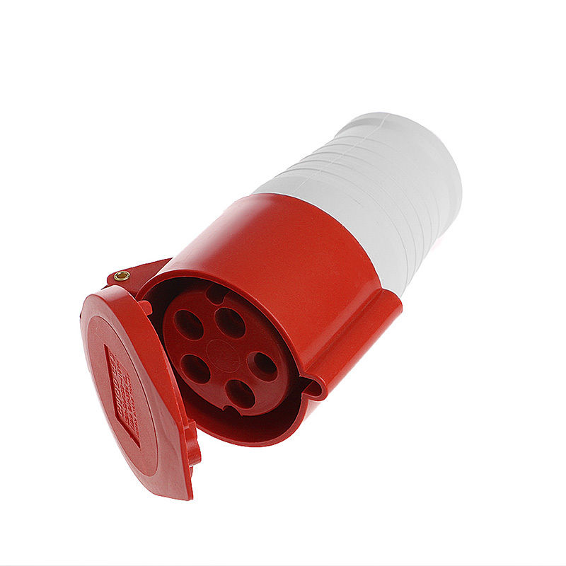 Promotion! 380-415Volt 32 Amp 5Pin Wall Industrial Site Plug And Socket 3P+N+E IP44 32A Waterproof rated to IP44 impact resistan